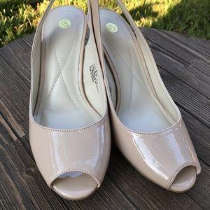 🌵CP Jenny Nude Patten Leather Heels SZ 9M NWT